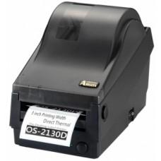 Argox OS-2130DE-SB (термо печать, интерфейсы Lan, COM и USB, ширина печати 72 мм, скорость 104 мм/с, НОЖ)